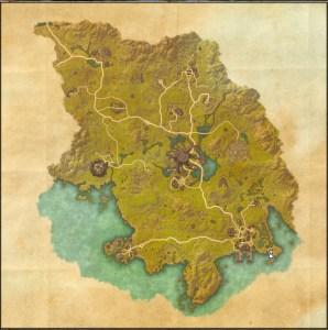 The maps of the Elder Scrolls Online - Grahtwood