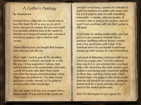 Books of Craglorn - A Grifter's Apology page 1