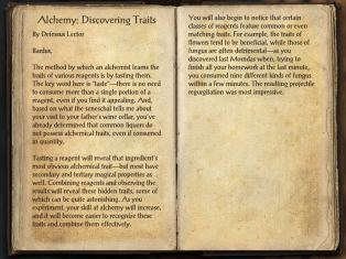 The Books of the Elder Scrolls Online - Alchemy - Discovering Traits