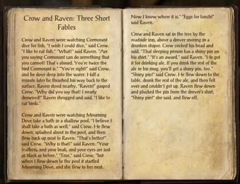 Books of Craglorn - Crow and Raven Fables