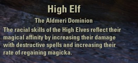 Exploring the Elder Scrolls Online - High Elf Description