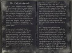 The Books of the Elder Scrolls Online - The Code of Mauloch