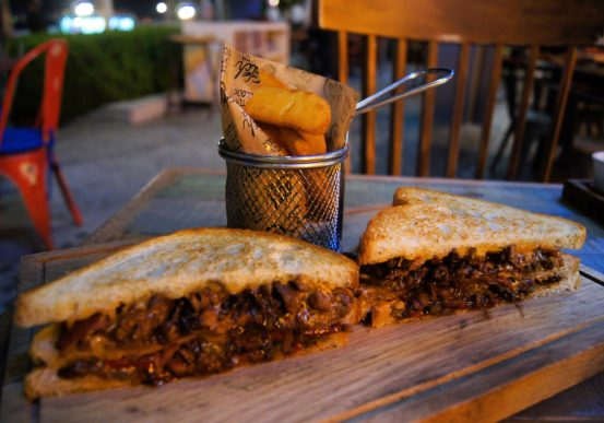Catch 22 JBR Dubai sandwich