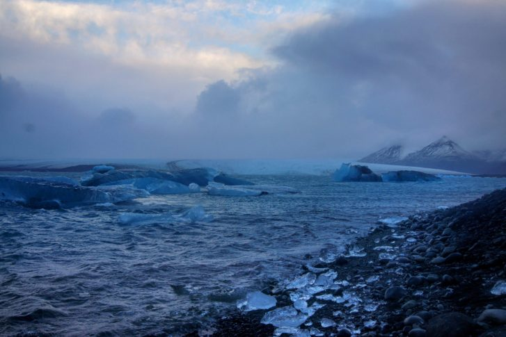 Jökulsárlón Glacier Lagoon Iceland winter South East Iceland Itinerary Ring Road