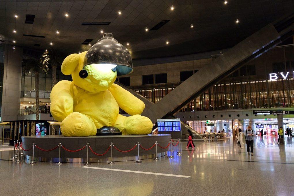 Hamad International Airport teddy bear Urs Fischer