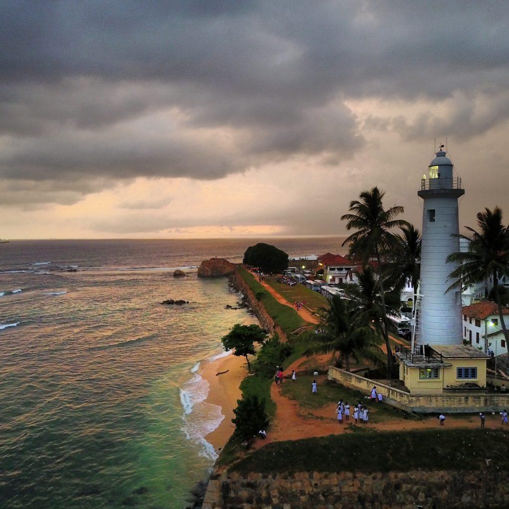 Sri Lanka tourism Galle thunderstorm sunset
