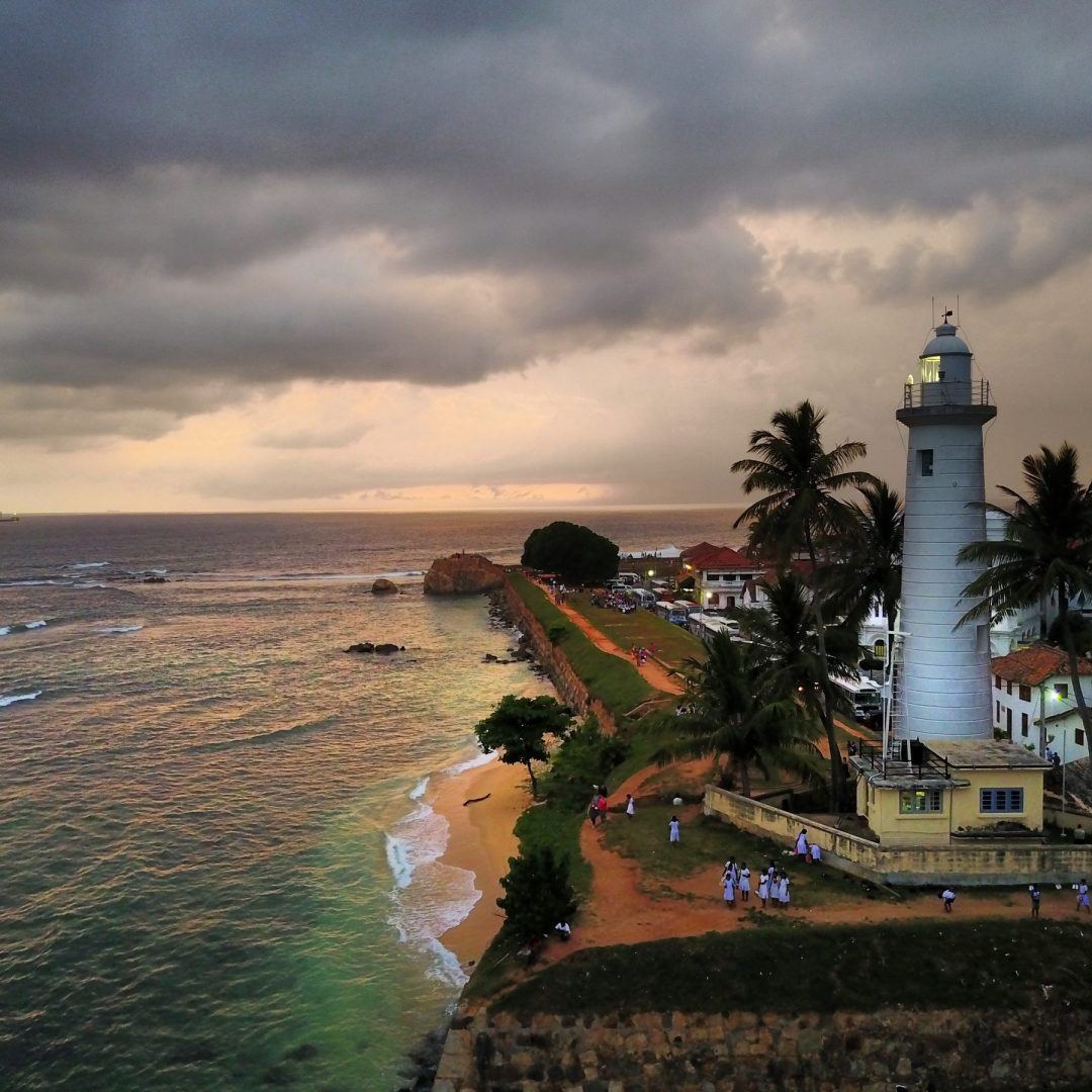 Sri Lanka tourism Galle thunderstorm sunset