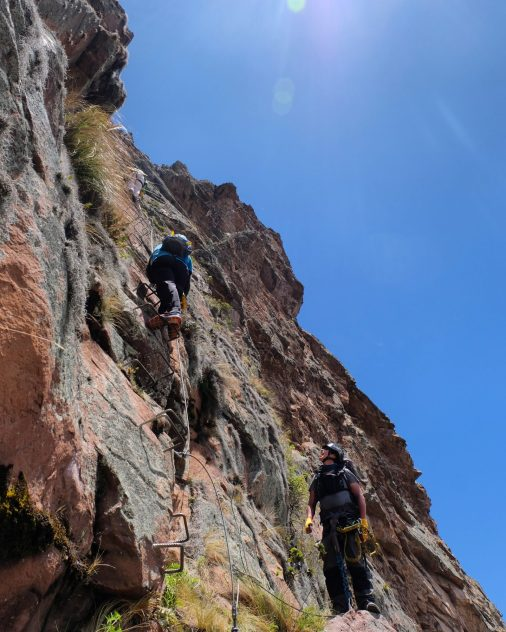 Via ferrata, Sacred Valley, Peru