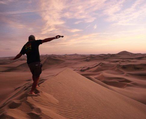 Huacachina Peru sand dunes sunset