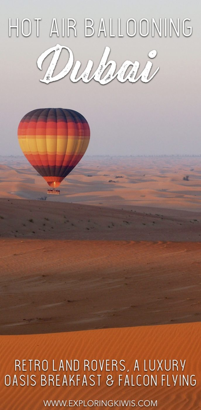 Imagine flying through Dubai's desert on a sunrise hot air balloon ride, flanked by a falcon. Finish up with retro dune bashing and a luxury breakfast! A must on your UAE vacation itinerary.