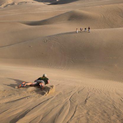 Sandingboarding in Huacachina, Peru