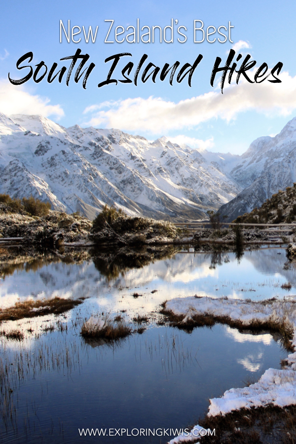 The South Island of New Zealand is home to some of the most incredible hiking in the world!  From easy day hikes to multi-day treks, we\'re bringing you the best of the best on New Zealand\'s trails.  Grab your hiking boots and poles and get yourself down to New Zealand now!  #travel #hiking #newzealand