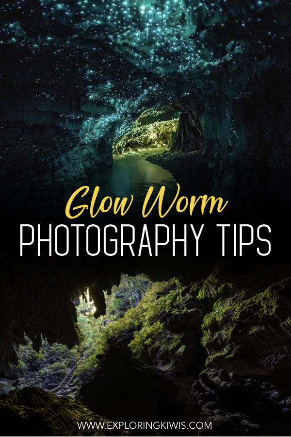 New Zealand is home to beautiful glow worm colonies but they can be difficult to photograph properly (and the commercial Waitomo Caves don\'t even allow cameras).  Find out where you can access a private set of caves on a photography tour and read our tips to make the most of the opportunity. #travel #photography #newzealand