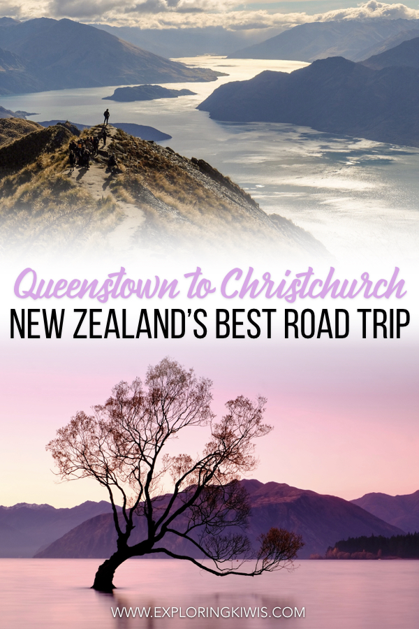 The Queenstown to Christchurch road trip is one of the best in New Zealand.  Able to be completed in less than a week (and much more), it shows off many of the country\'s highlights, all within an easy drive of one another. With amazing hikes, beautiful outlooks, adrenaline-inducing activities and more, this guide will help you plan the self-drive vacation of a lifetime! #travel #newzealand #newzealandtravel