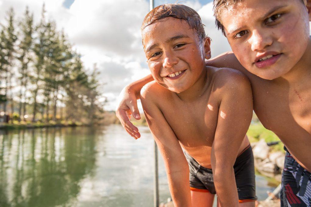 Maori boys in New Zealand