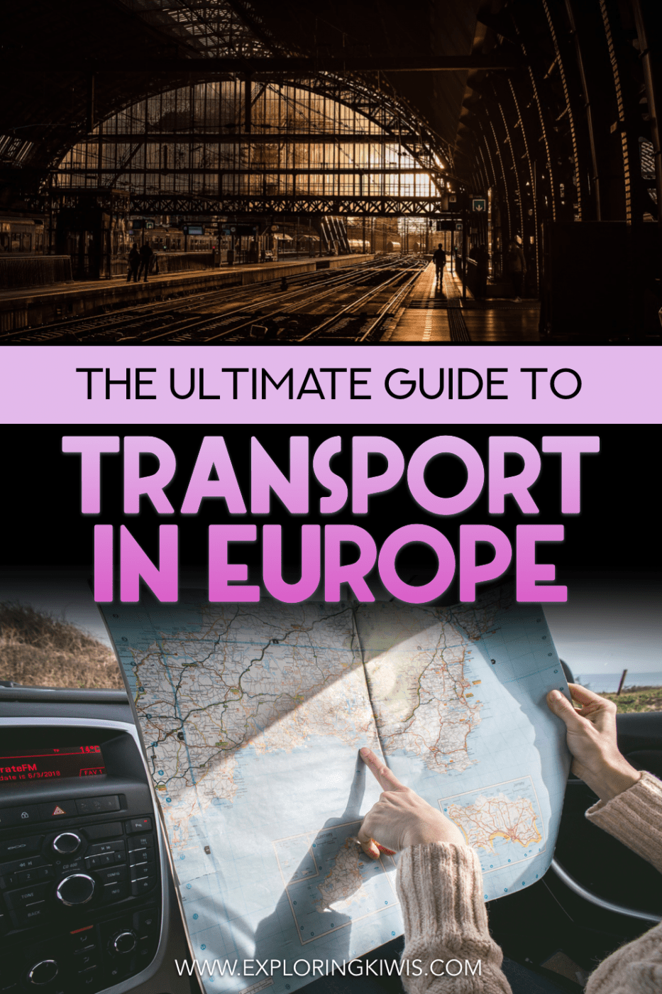 This guide will help you compare all of the different modes of transport in Europe - whether you fly, bus, train, drive, RV or join a tour, this post will help you choose the best option for you. #travel #europe