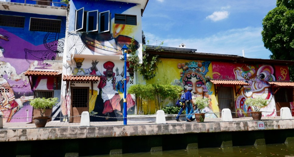 Houses by the river, Malacca