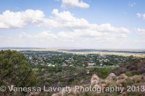 The view from the lookout above town over Charters Towers