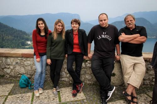 Slovenia Europe Lake Bled Castle Swam Lake Church Cliff Travel Culture Adventure Family