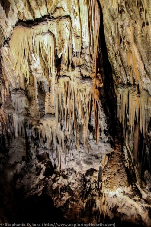 Slovenia Postojna Caves Cave in Postojna Europe Travel Culture Example Adventure Karst Limestone Calcite stalagmites stalactites geology underground formation