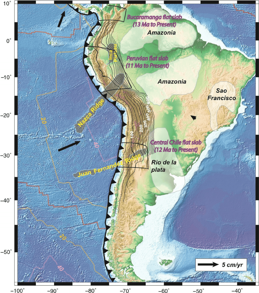 Working Up High The Peruvian Andes Exploring The Earth - Andes mountains map