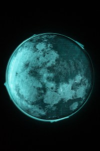 The Bioluminescent Moon. The light here is being generated by bioluminescent and has unique and lure-like qualities
