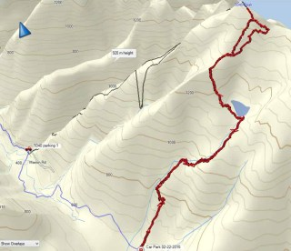 GPS route to Mount 5040