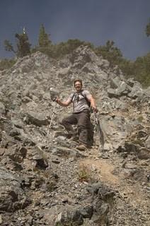 Vancouver Island's longest scree slope near Mount Schoen