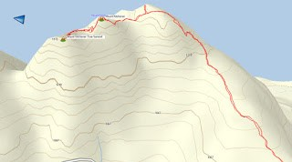 Mount Kitchener Map and GPS Route with Photos