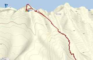 Mackenzie Peak Map and GPS Route, Vancouver Island