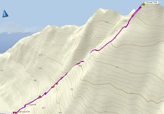 Springer Peak Map and GPS route