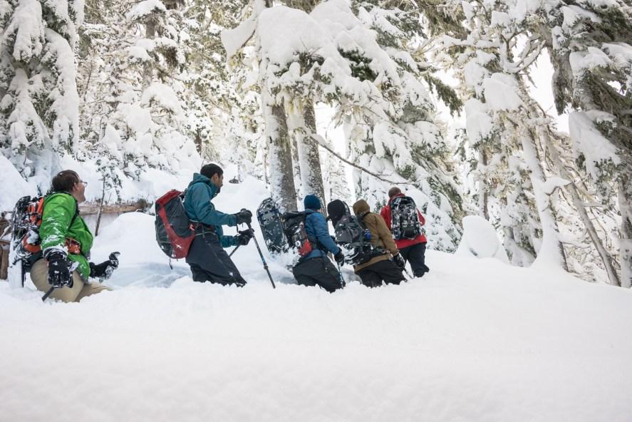 IMR snowshoeing