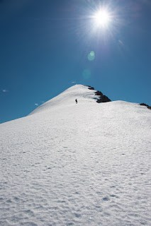 Mount Alexandra's long summit ridge