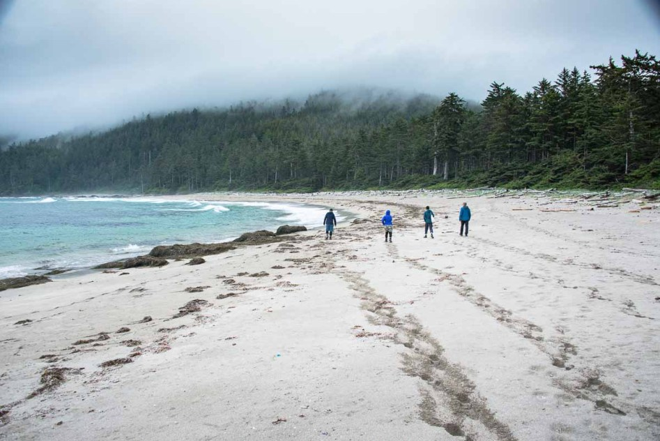The Island Mountain Ramblers explore Lowrie Bay in Cape Scott Provincial Park