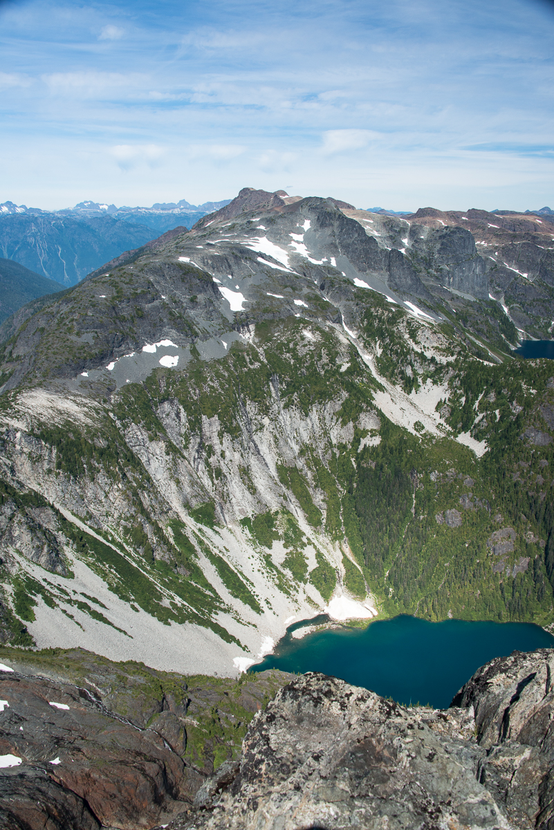 Mirren Lake below, Rees Ridge beyond