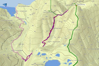 Marmot Mountain Map and GPS Route