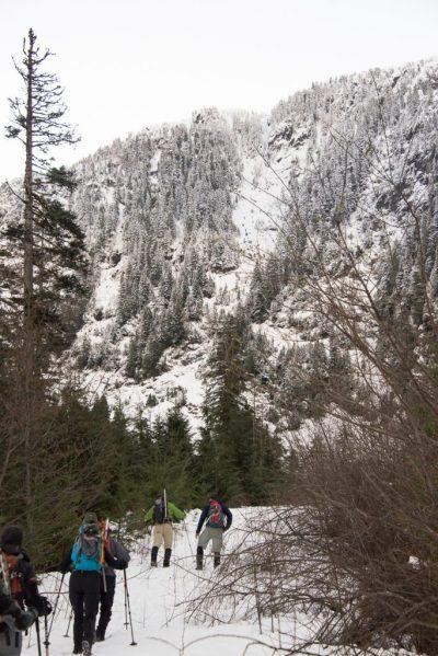 hiking to Marmot Mountain in the Sadie Creek Valley