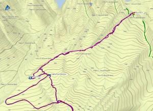 Mount Service, Mount Service Map, Nanaimo Lakes