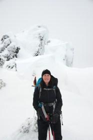 Mt Cain Snowshoe in the Dream Chute