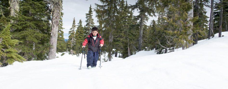 snowshoeing on Vanouver Island, Pulk Sled, Matthew Lettington