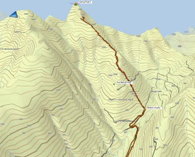 Mount Waring, Hiking Vancouver Island, Mountaineering, snowshoeing, GPS route, Mount Waring Map