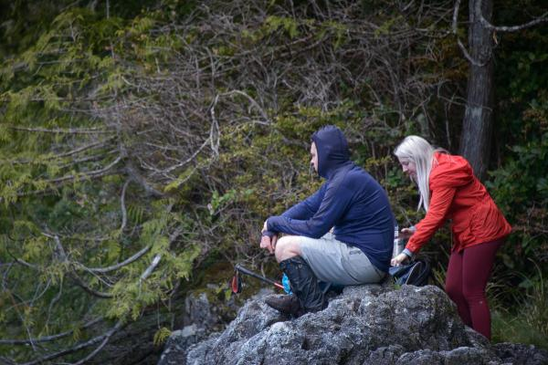 hiking on Meares Island, in Tofino inlet off the coast of Vancouver Island