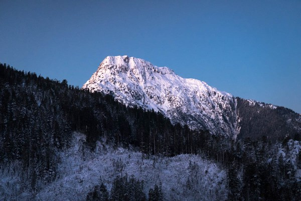 sunrise showing on the mountains