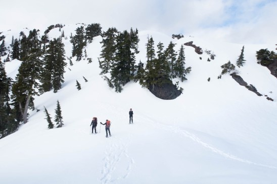 hiking in the Mackenzie Range on Vancouver Island