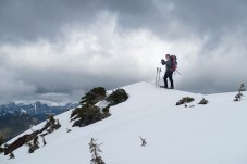 Rick taking his own photographs in the Mackenzie Range