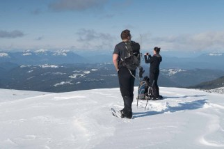 on the summit of Tyee Mountain