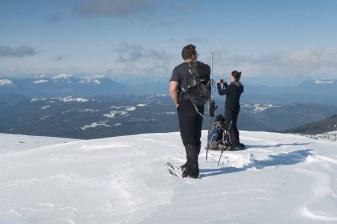 on the summit of Tyee Mountain