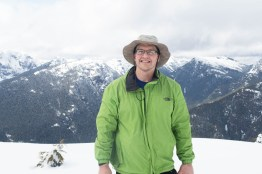Phil on the summit of Mount Flannigan; Strathcona Park Vancouver Island