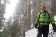 Phil in the foggy trees