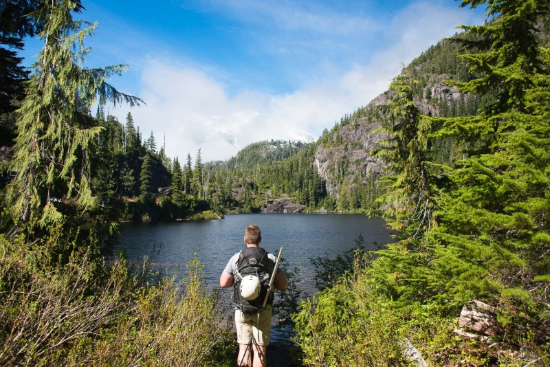 the route along the Bedwell Lake Trail